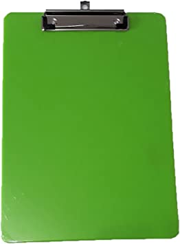Colour Choice 2 x  A4 SOLID STRONG PLASTIC CLIPBOARD WITH HANGING HOOK