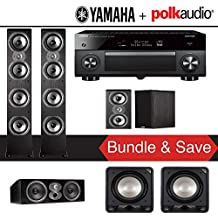 Polk Audio TSi 500 5.2-Ch Home Theater Speaker System with Yamaha AVENTAGE RX-A3070BL 11.2-Channel Network AV Receiver