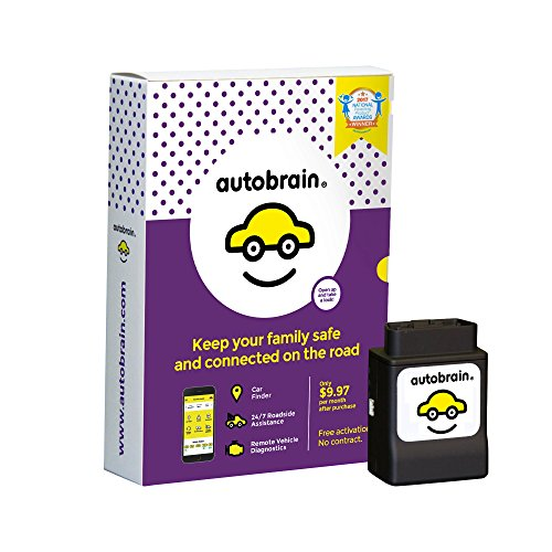 Autobrain OBD Real-Time GPS Vehicle Tracking Health Monitoring, Mechanic Helpline, 24/7 Roadside Assistance Included, 14-Day Free Trial, 9.97/Month, No Contract by Autobrain