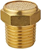 MettleAir BBV-N02 Flat Pneumatic Muffler Filter, Sintered Bronze, 1/4'' NPT (Pack of 10)
