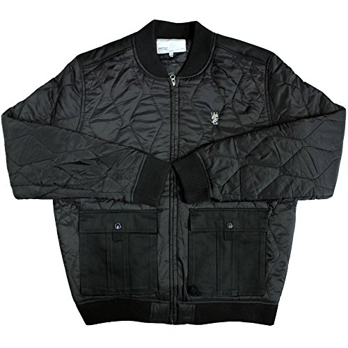 WeSC Sixten Quilted Bomber Jacket Black by WeSC