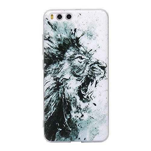Funda Xiaomi 6,EUDTH Suave TPU Gel Funda Case Delgado Silicona Fundas Carcasa Espalda para Xiaomi Mi6 (5.15 Pulgadas) Levantamiento de pesas León
