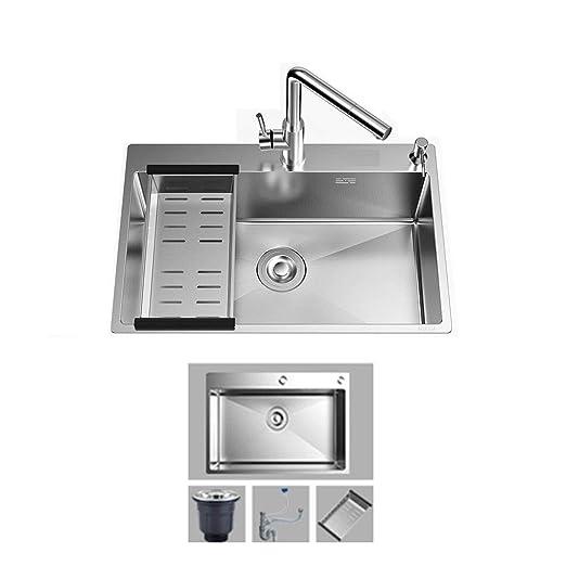 Fregadero de cocina Inserción Acero inoxidable 680 * 450 mm ...