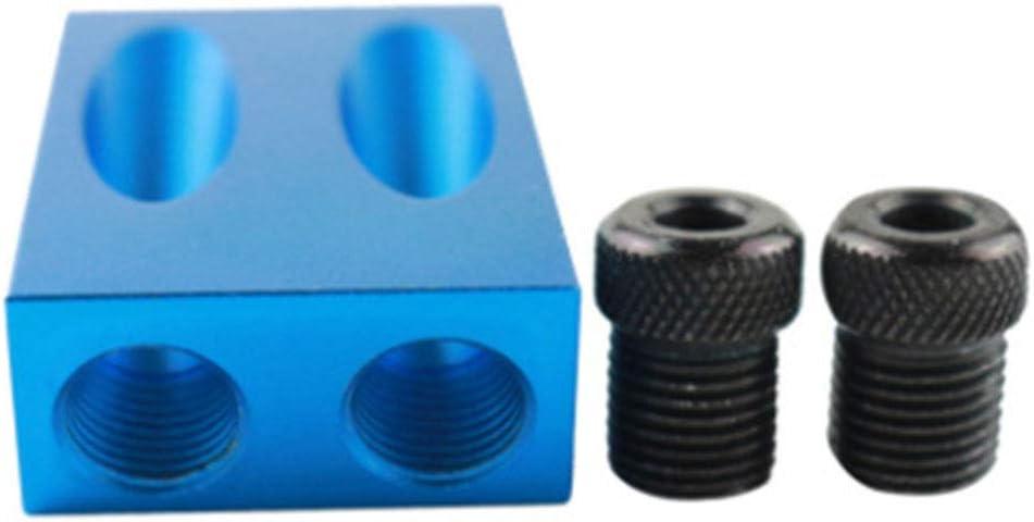 Outil de per/çage 15 degr/és avec trou de poche pour le travail du bois Trous de 6//8//10 mm