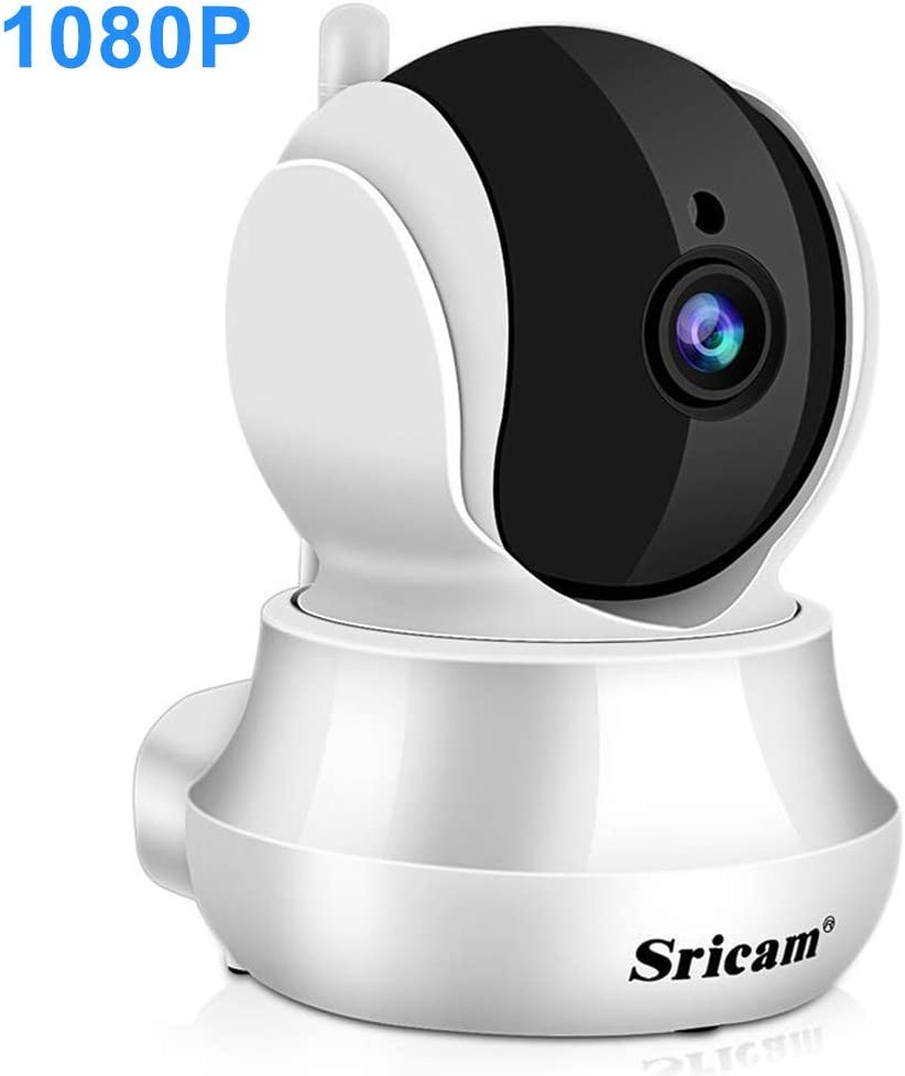 Sricam Cámara Vigilancia Wifi 1080P, Cámara IP (IP66, IR-Cut, Visión Nocturna, H. 264, Detección de Movimiento, CCTV ONVIF ), Camara Seguridad Exterior y Interior, Compatible con iOS y Android
