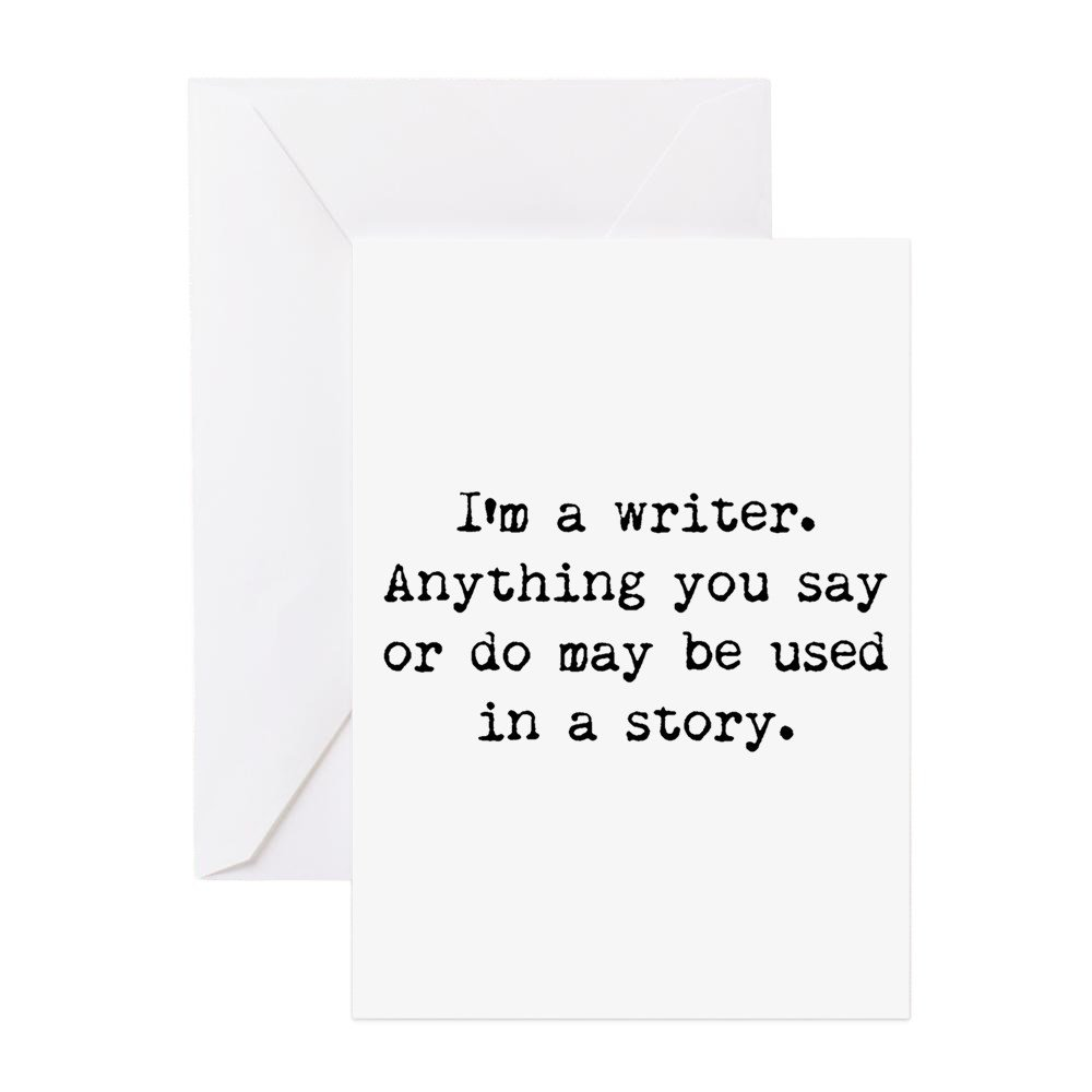 Amazon Cafepress Writers Miranda Greeting Card Note Card