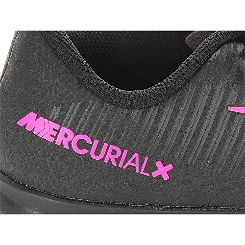 Nike Jr Mercurialx Vortex Iii Tg, Botas de Fútbol para Niños Negro (Black / Black)