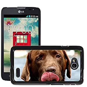 Super Stella Slim PC Hard Case Cover Skin Armor Shell Protection // M00146307 Dog Canine Labrador Retriever // LG Optimus L70 MS323