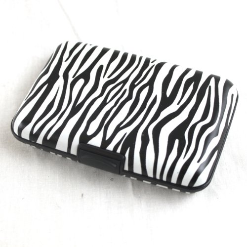 ca1fafc46128 Elixir Aluminum Credit Card Wallet RFID Blocking Case, Zebra 30%OFF ...