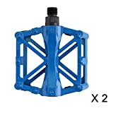 Chollima Road Bike Pedals Alloy Bicycle Pedals Bike Pedal Parts For Cycling 9/16 Inch Blue