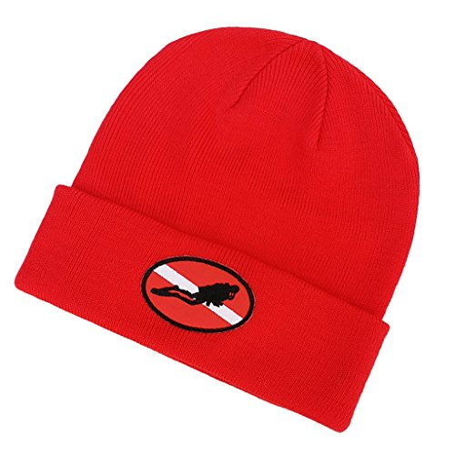 Baosity Knitted Cap Outdoor Sports Knit Cap One-size fits Most Anyone for Camping, Biking Red by Baosity