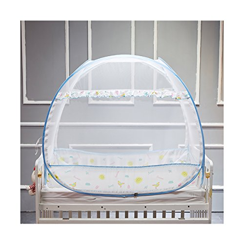 """Joyreap Baby Crib Tent for safety, Portable Nursery Infant Pop-up Mosquito Net for Kids, Play Tent for Toddlers,Suited for Crib Over 50"""" L x 30? W (Blue,47""""x 25""""x 35"""")"""