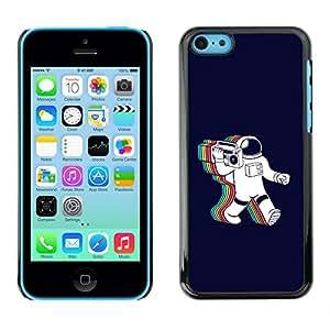 Caucho caso de Shell duro de la cubierta de accesorios de protección BY RAYDREAMMM - iPhone 5C - Psychedelic Astronauta Radio Música