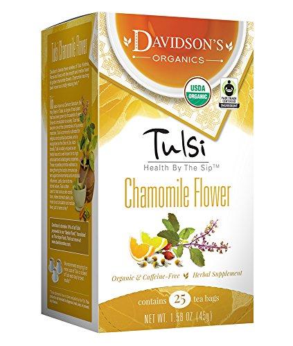 (Davidson's Tea Tulsi Chamomile Flower, 25-Count Tea Bags (Pack of 6))