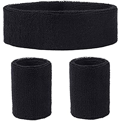 DEMIL Sweatbands Cotton Sports Headbands Wristband for Men amp Women Estimated Price £7.85 -