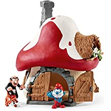 Smurfs House With Papa Smurf And Gargamel & Azrael Action Figure