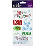 Sticko Stickers - Merry Christmas Clear Classic Stickers