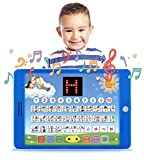 "learning kids games - Spanish-English Tablet Bilingual Educational Toy with LCD Screen Display by Boxiki Kids. Touch-and-Teach Pad for Kids Learning Spanish and English. ABC Games, Spelling, ""Where Is?"" Games, Fun Melodies"