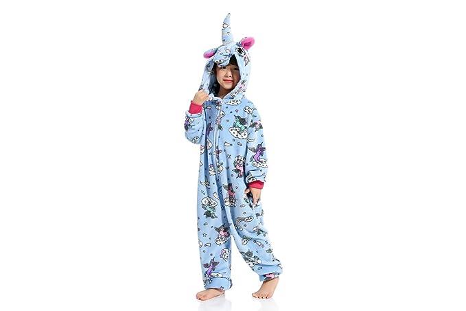 ZZYOU Unicornio Pijama Niños Unicornio Disfraz Mono Halloween Disfraz Animal Pijama Unisexo Cosplay Pijama (Tamaño