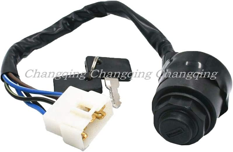 CQYD Ignition Switch with Key for Kawasaki Mule 4000 4010 600 610 Replaces 27005-0011 27005-1191 27005-1146