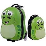 Goplus 2Pc 13' 19' Kids Carry On Luggage Set Travel Trolley Suitcase