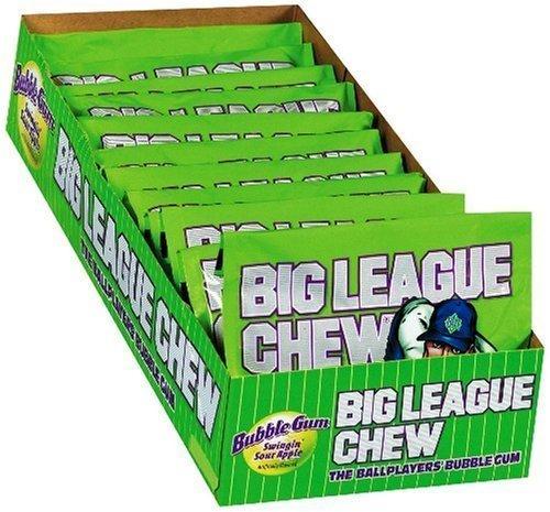 Big League Chew, Sour Apple, 2.1-Ounce Pouch, 12-Count