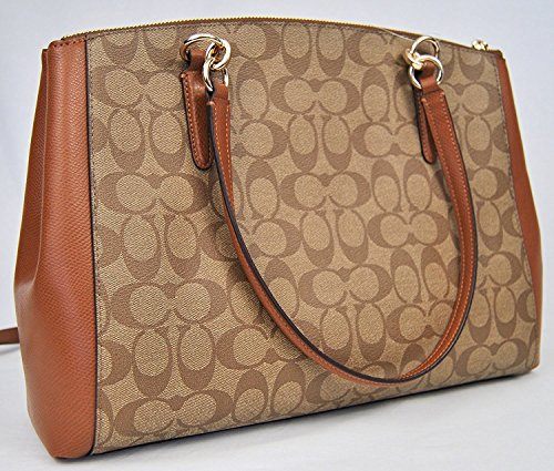in Crossgrain Leather Christie Khaki Coach Saddle Carryall wBE1qcT0