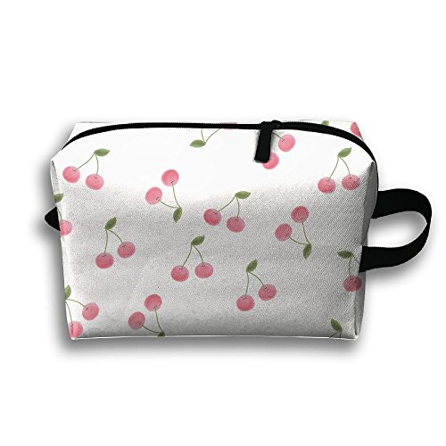 Cerezas Pictuer Cosmetic Bags Makeup Organizer Bag Pouch Zipper Purse Handbag Clutch Bag ()