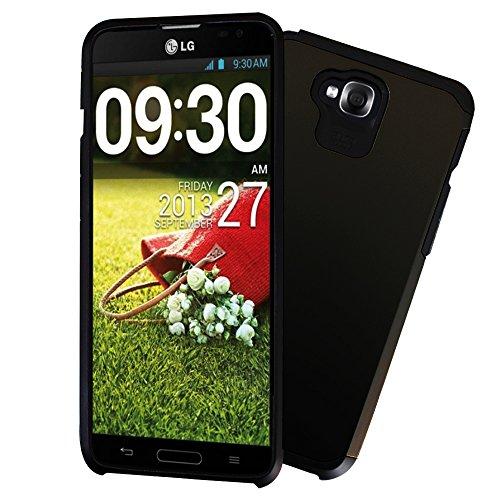 [해외]Lg G 프로 라이트 D680 케이스 Kuteck 듀얼 레이어 갑옷 프로텍터 케이스 Forfor G 프로 라이트 D680 D682TR D684 듀얼 D686 (LG g 프로에 적합 하지 않습니다. lg g 프로 2) 보너스 1x 스타일러스 펜 (블랙) / LG G Pro Lite D680 Case Kuteck Dual...