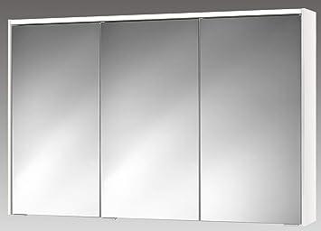 Jokey - Sieper Spiegelschrank 120cm dreitürig weiß: Amazon ...