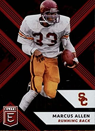 e382d351ad3 2018 Panini Elite Draft Picks #66 Marcus Allen USC Trojans Football Card