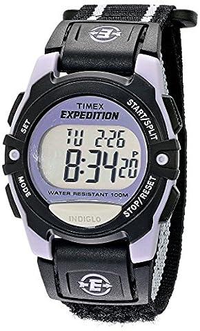Timex Unisex T49658 Expedition Classic Digital Chrono Alarm Timer Black Fast Wrap Velcro Strap - Chrono Classic Ladies Watch
