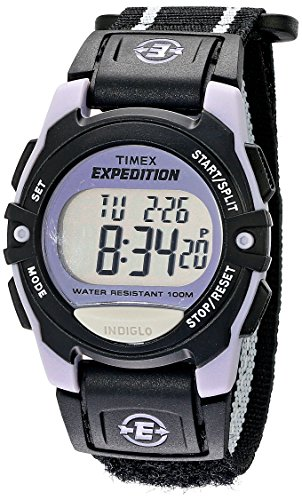 (Timex Expedition | Chronograph Alarm Timer White/Black | Digital Watch T49658)