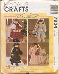 McCall 8139 Sewing Pattern Betsy McCall Doll Clothing