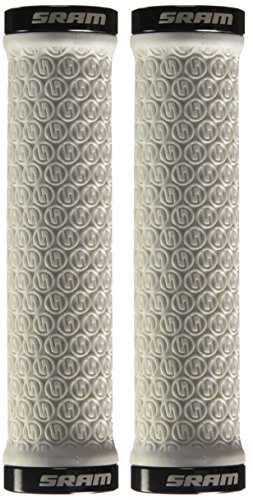 Sram Locking Grips with Clamps and Plugs (White)
