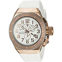 Swiss Legend Men's 'Trimix Diver' Swiss Quartz Stainless Steel and Silicone Casual Watch, Color:White (Model: 13844-RG-02-RA)
