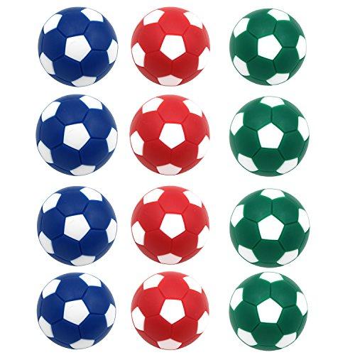 Goutoports Table Soccer Foosballs Replacements Mini Soccer Balls – Set of 12 (Deep Color Balls)