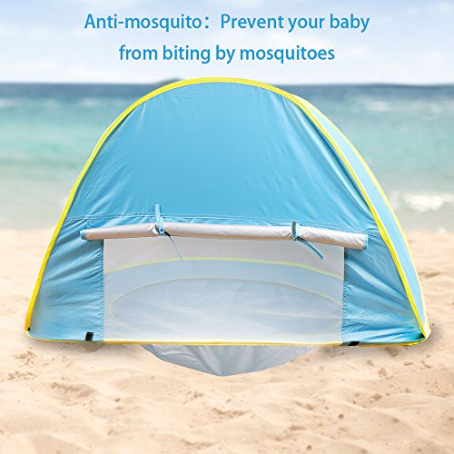Baby Beach Tent?Oummit Pop Up Baby Tent with Small Beach PoolAutomatic Foldable & Baby Beach Tent?Oummit Pop Up Baby Tent with Small Beach Pool ...