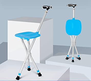 Outstanding Amazon Com Zjfsx Portable Folding Cane Seat With Led Light Caraccident5 Cool Chair Designs And Ideas Caraccident5Info
