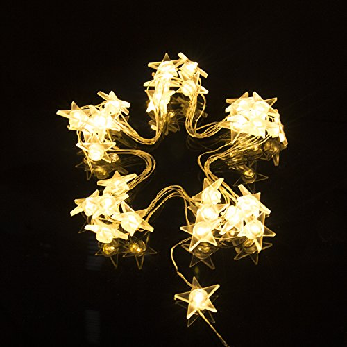 String Lights- Bright light Garden Home Party Festival Decorations Battery Operated Lights (Christmas Stars)