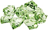 Homeford 50-Piece Acrylic Crystal Ice Rocks Table Scatter, Apple Green, 1-Inch