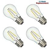 Luxrite LR21237 (4-Pack) 2-Watt LED Filament A15 Light Bulb, 25W ...