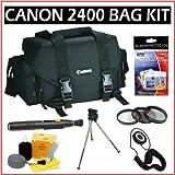 Canon 2400 SLR Gadget Bag + Photography Accessory Kit for Canon EOS Rebel XT, XTi XS, XSi, T1i, T2i, T3, T3i, & T4i SLR Digital Cameras