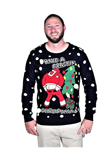 RWB Unisex Have A Crackin Ugly Christmas Sweater Navy