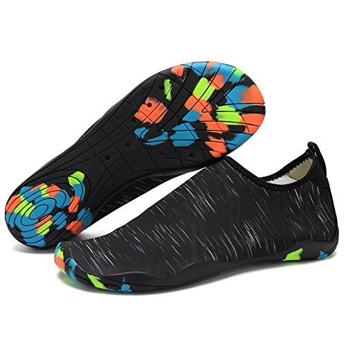 Drainage Beach Socks Quick Women VITIKE Aqua Barefoot Diving Swim Men Snorkeling Water Pool Surf Shoes Shoes Dry Black Holes 16 For 7YwUgq