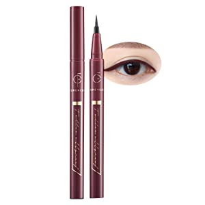 [FORENCOS] Tattoo All Proof Eyeliner 0.6g 4 Colors - All Day Long Lasting Brush Pen Eye Liner, Waterproof, Oilproof, Sweatproof, Easy Drawing, Natural Ingredients for Sensitive Eyes (04 Plum Burgundy)