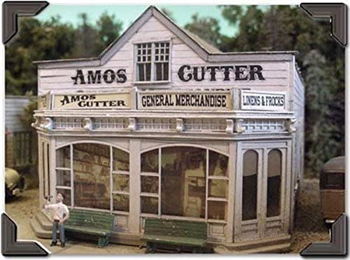 Bar Mills O Scale Model Train Buildings - Amos Cutter General Merchandise - 0504