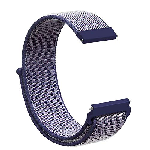 Ansenesna Watch Bands for Men Replacet Soft Nylon Sport Loop Wrist Band Strap for Galaxy Watch 42mm (Blue)