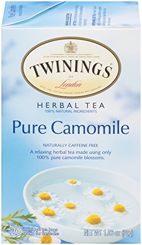 Twinings of London Pure Camomile Herbal Tea Bags, 20 Count (Pack of 6)