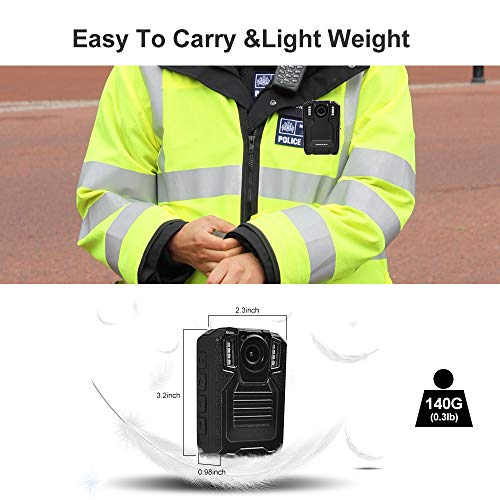 SMONET 【2019 New】 Body Camera with Audio, HD Multifunctional Police Body Cameras for Law Enforcement,Security Guard,Waterproof Body Worn Camera with Night Vision,2 Inch Display Video,Wide Angle(32GB) by SMONET (Image #1)